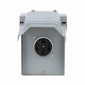 50 Amp Rv Hookup Power Outlet Circuit Breaker Receptacle