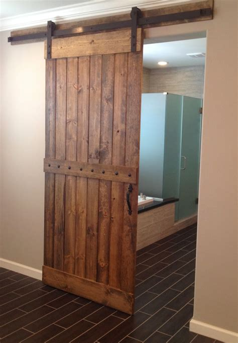 interior barn doors for reclaimed wood interior barn door for home bathroom