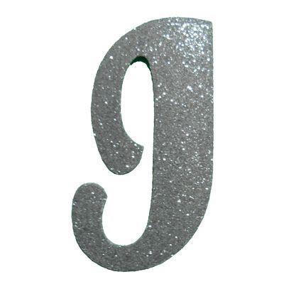 letra cursiva em gliter i prata a b c d 193