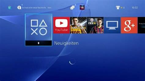 Mock Ps4 Home Screen When The Youtube And Google+ Apps Are