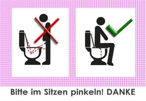 bitte im sitzen pinkeln 10 x bitte im sitzen pinkeln aufkleber sauberes wc