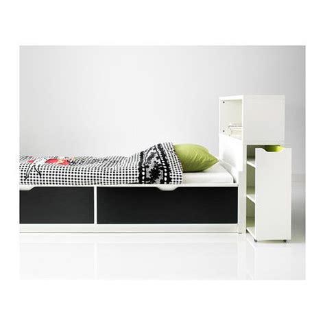 ikea flaxa bed flaxa bed frame w storage slatted bedbase white