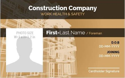 construction workers photo id badges microsoft