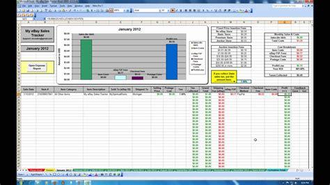 ebay sales tracker spreadsheet youtube
