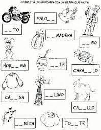 resultado de imagen para completar palabras con vocales para imprimir educaci 243 n actividades