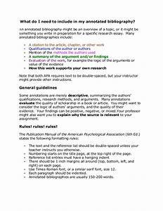 Sample APA Annotated Bibliography