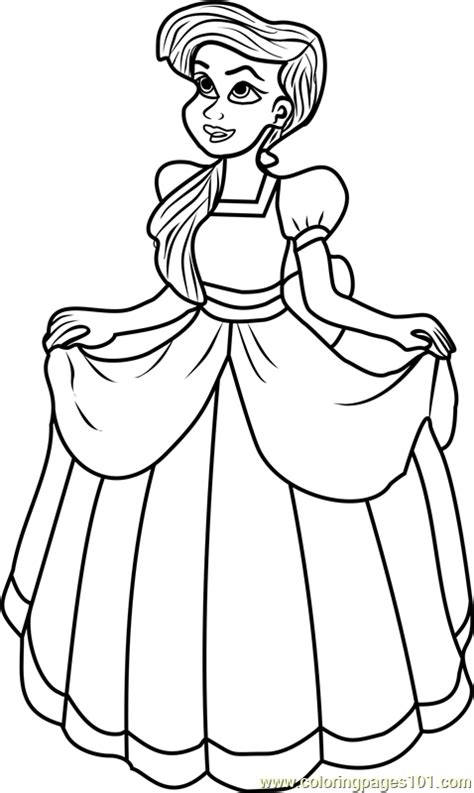 princess melody coloring page  disney princesses