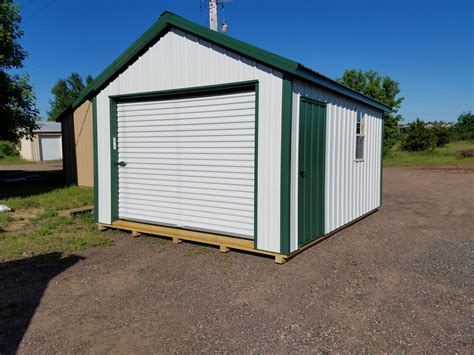 Steel Garage   Amish Made Portable Metal Garages in MN and WI