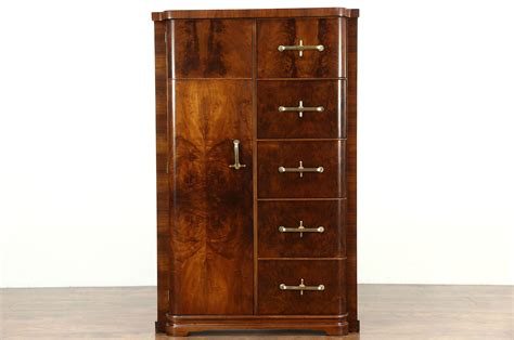 sold art deco italian  vintage armoire wardrobe
