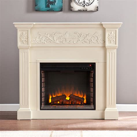 calvert ivory electric fireplace mantel package fe