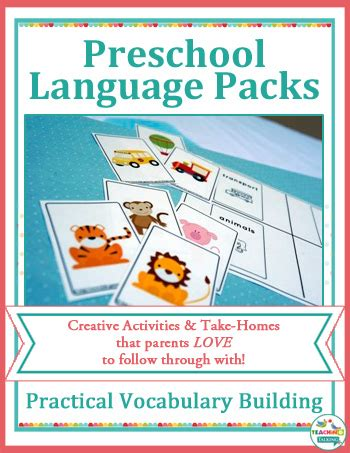 creative preschool speech therapy activities for busy slps 431 | preschool vocab cover