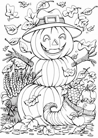 Coloring Fall Pages Stamping