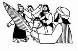 Palm Sunday Coloring Clipart Jesus Jerusalem Worship Clipartmag sketch template