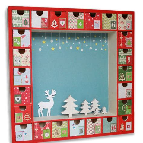 calendrier avent bois vitrine 39 5cm tout 224 creer