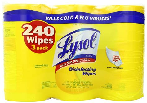 Lysol Disinfecting Wipes - $2.98 Per Pack (240 wipes