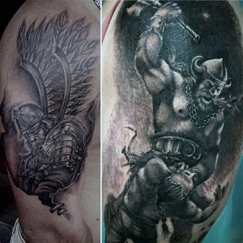 warrior tattoos  men battle ready design ideas