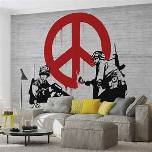 Banksy Graffiti Wall Paper Mural   Buy at EuroPosters