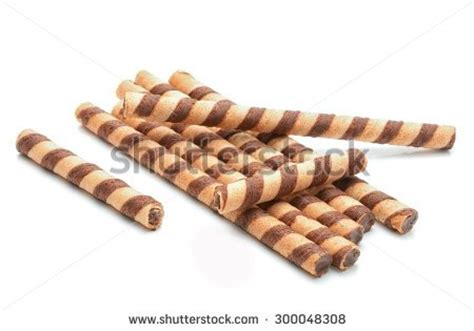 Stik Loli Popcake Coklat wafer rolls with chocolate stock photos images