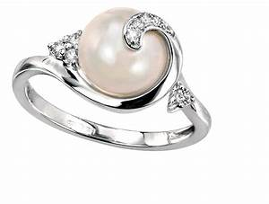 28 creative wedding ring pearl navokalcom for Pearl engagement ring with wedding band