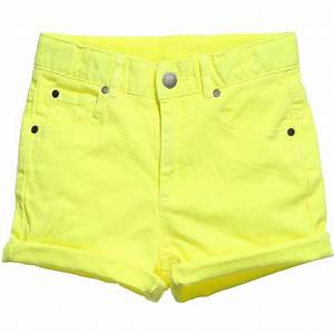 Stella McCartney Kids - Girls Neon Yellow Denim u0026#39;Blakeu0026#39; Shorts | Childrensalon