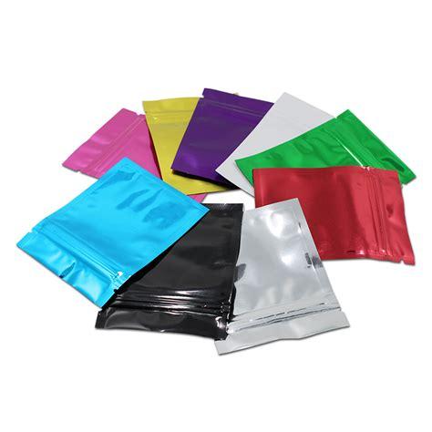colored zip lock bags 300pcs lot 8 5 13cm colored zip lock aluminum foil bags
