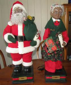 holiday creations motion animated santa mrs claus black african american