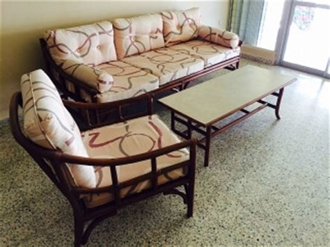 muebles de rattan sala  comedor