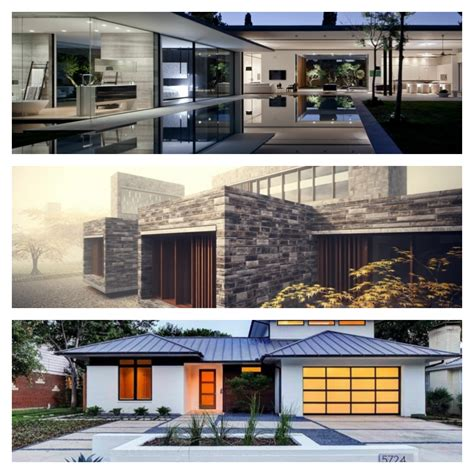 Modern architecture with glass stone and metal