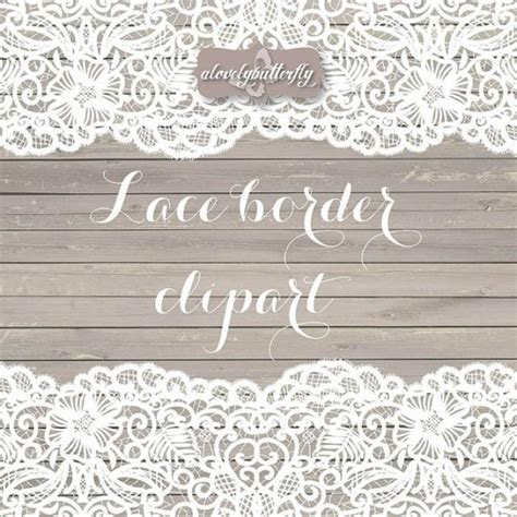 vector wedding clipart lace border rustic clipart shabby
