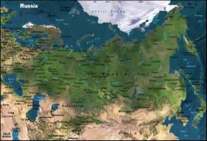 Russia Physical Geography Map