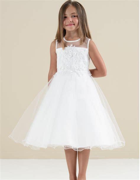 Vestito abito voile bianco cerimonia damigella bambina 4 anni nuovo. Vestiti Eleganti Bambina 6 Anni