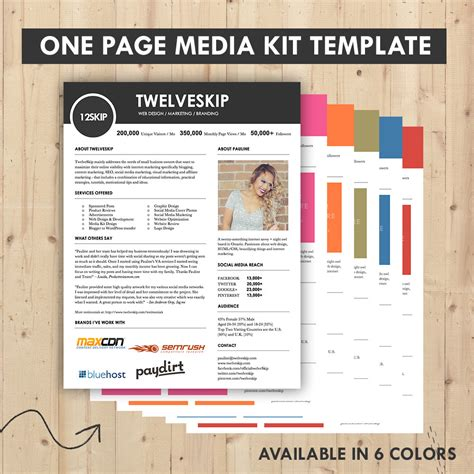 Press Kit Template by Media Kit Press Kit Templates Easy To Edit Clean High