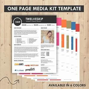 Media kit press kit templates easy to edit clean high for Advertising media kit template