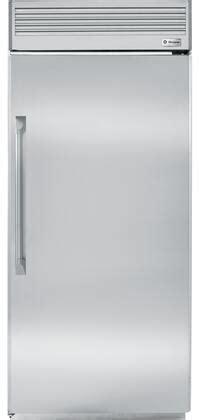 ge monogram zirpnhrh   monogram series stainless steel  refrigerator   cu