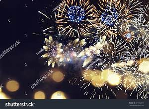 Fantastic Colorful Fireworks With Copyspace. Background ...