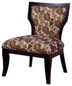 coaster accent chair in oblong pattern brown cappuccino transitional living room chairs by