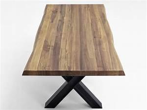 Esstisch Baumkante Ausziehbar : esstisch nature baumkante ansteckplatten drei gestelle ~ Watch28wear.com Haus und Dekorationen