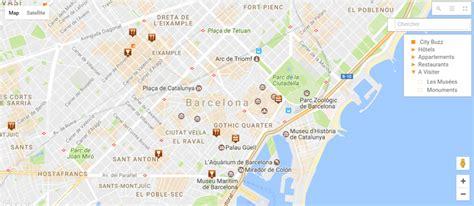 montre de cuisine plan de la ville de barcelone carte de barcelone