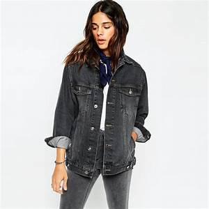 Black Plain Denim Jacket Women Cheap Factory Price In Bulk - Buy Denim Jacket WomenDemin Jacket ...