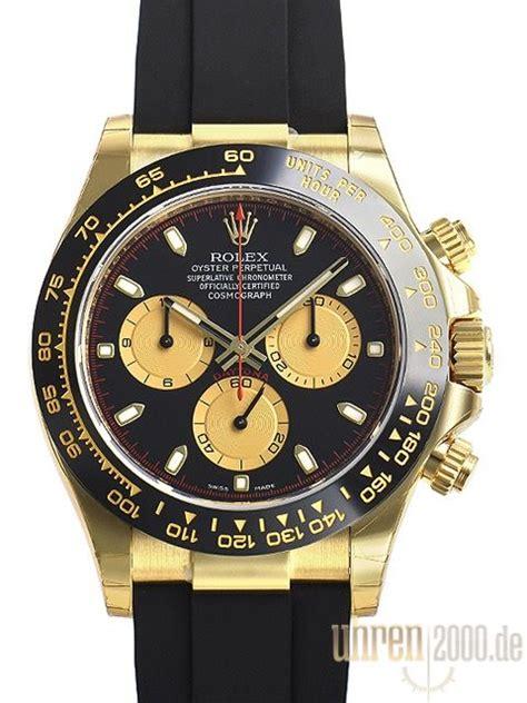Rolex Daytona 116518LN Gelbgold Oysterflex Schwarz ...