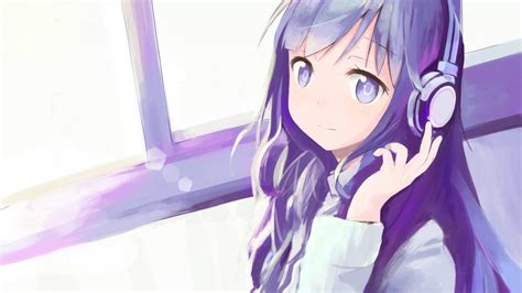 Anime With Headphones Wallpaper - 1920x1080 anime headphones hair