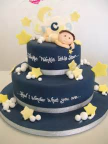 Twinkle Little Star Baby Shower Cake