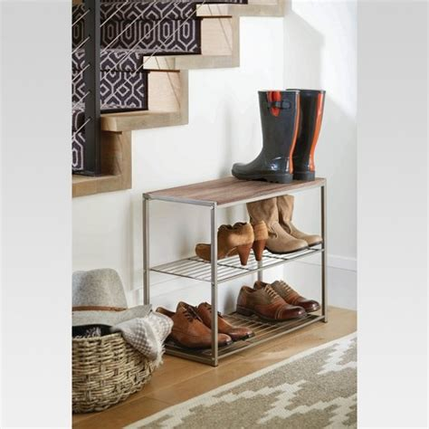 shoe racks target 3 tier shoe rack gray threshold target