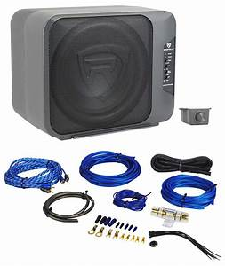 Rockville Ground Pounder 800 Watt Powered Dual 10 U0026quot  Loaded