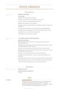 resume templates for material handler material handler resume sles visualcv resume sles