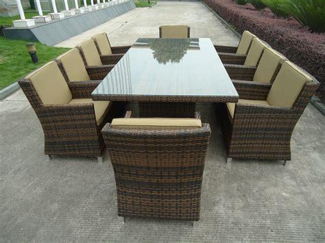 modern luxury wicker rattan garden dining sets with