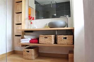 Meuble De Salle De Bain Bois : meuble de salle de bain en bois atelier pierre meunier ~ Teatrodelosmanantiales.com Idées de Décoration