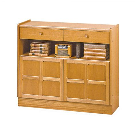 Nathan Classic Low Bookcase With Doors At The Best Prices