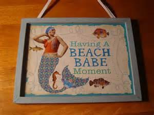 Vintage Beach Signs Mermaids