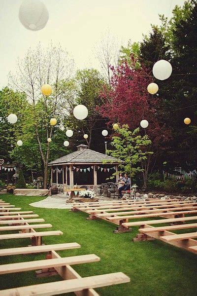 inexpensive backyard wedding how to plan a backyard wedding a and intimate celebration